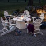 Folding Adirondack 6-Piece Conversation Set with Fire Pit Table