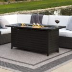 Rectangular Extruded Aluminum Gas Fire Pit Table