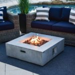 Concrete Outdoor Propane Gas Fire Pit Table