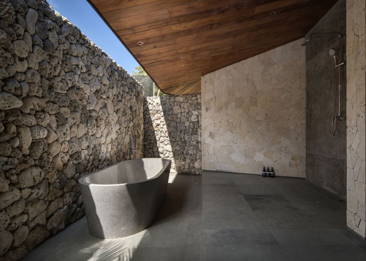 The selection of materials includes a lot of locally-sources, reclaimed options which give the villa a lot of character