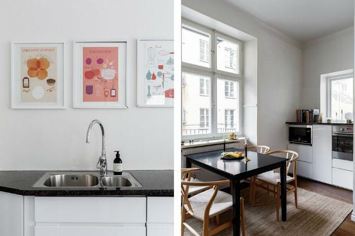 bright white Scandinavian design kitchen 2