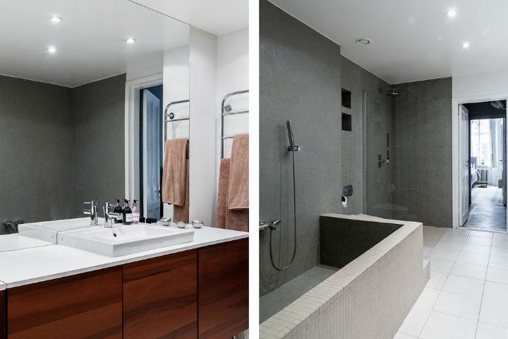 simple Scandinavian bathroom
