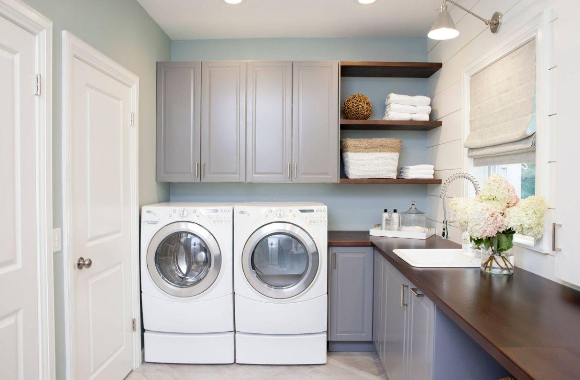 1572427579 854 stylish ways to take full advantage of your laundry shelves - Stylish Ways To Take Full Advantage Of Your Laundry Shelves