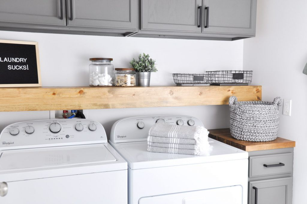 1572427579 97 stylish ways to take full advantage of your laundry shelves - Stylish Ways To Take Full Advantage Of Your Laundry Shelves