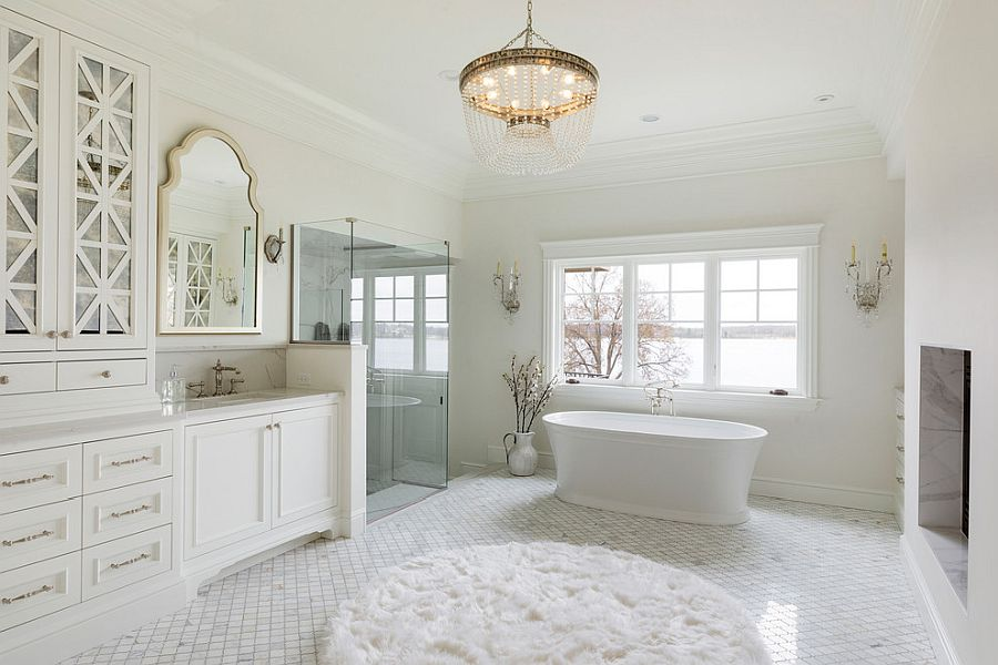 20 white bathrooms that bring home spa styled relaxation - 20 White Bathrooms that Bring Home Spa-Styled Relaxation