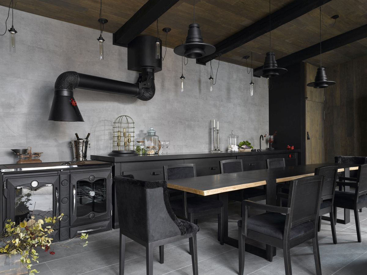 a beautiful summer kitchen with a rustic industrial design - A Beautiful Summer Kitchen With A Rustic-Industrial Design