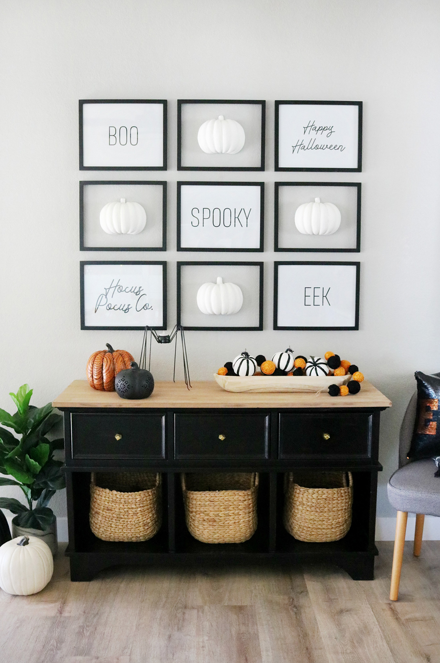 cool black and white decor ideas for halloween - Cool Black And White Decor Ideas for Halloween