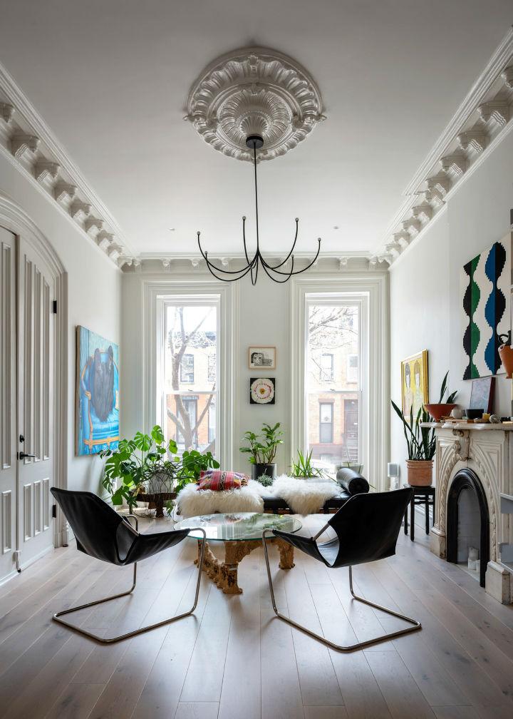 duplex townhouse condo 1 - Brooklyn Duplex Transformed Into A New Form Of Its Former Elegance