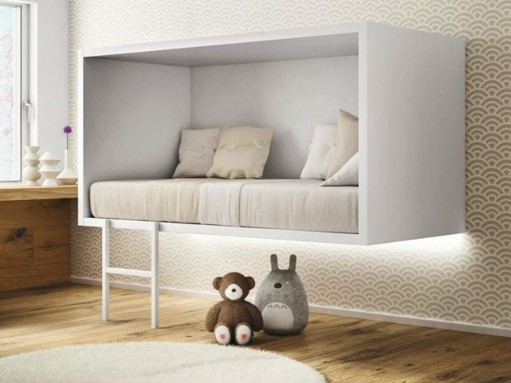 kids floating bed 1 - Kids Design Floating Bed