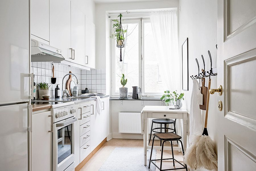 space savvy goodness 10 small kitchens with tiny breakfast zones - Space-Savvy Goodness: 10 Small Kitchens with Tiny Breakfast Zones