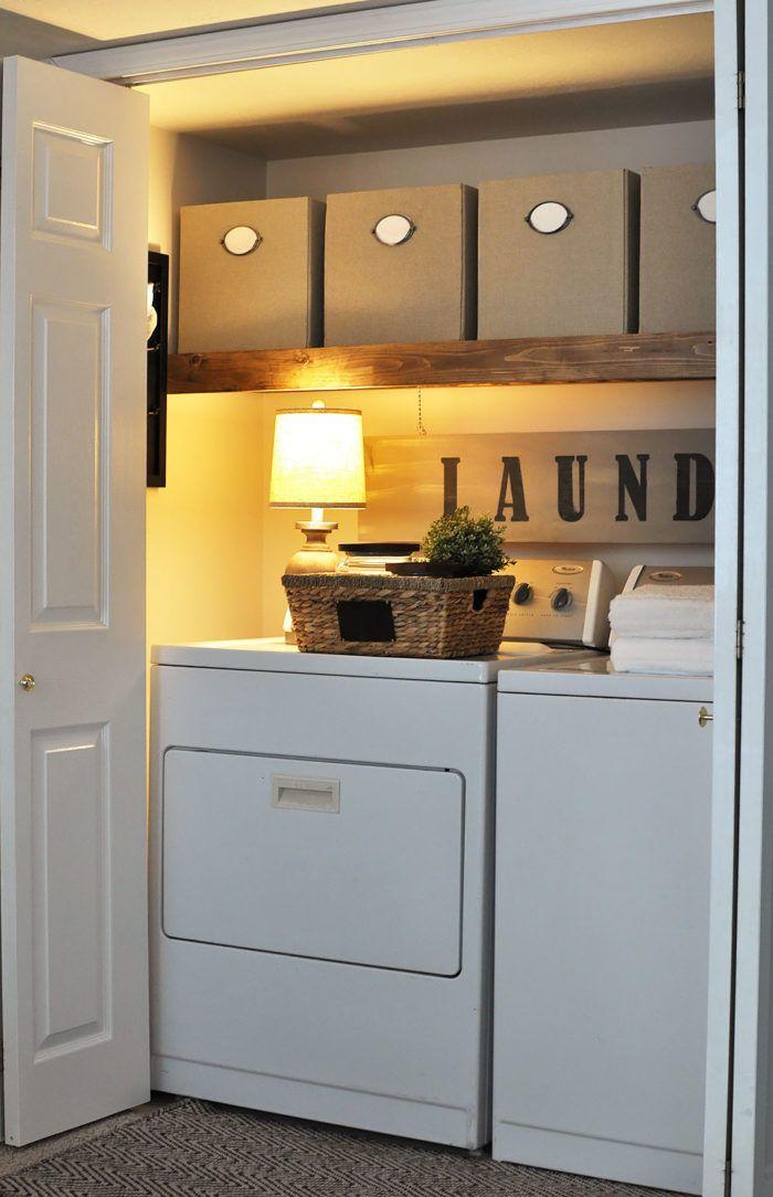 stylish ways to take full advantage of your laundry shelves - Stylish Ways To Take Full Advantage Of Your Laundry Shelves
