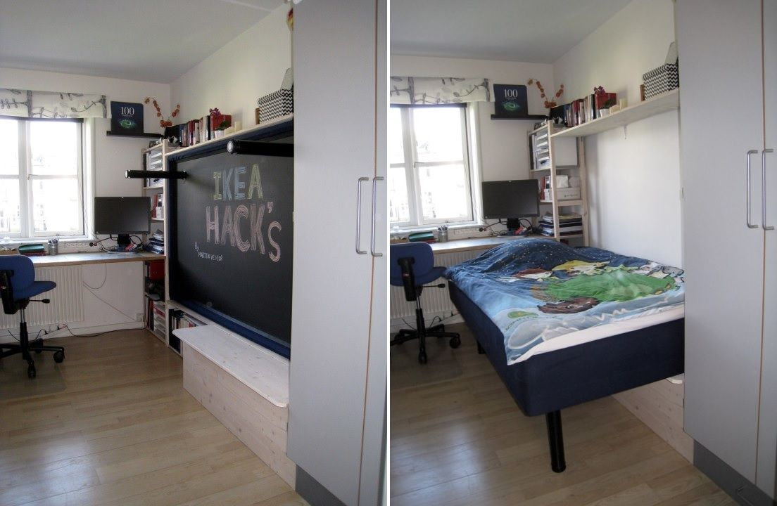 1572957601 25 how to reinvent a spare room with a diy murphy bed - How To Reinvent A Spare Room With A DIY Murphy Bed