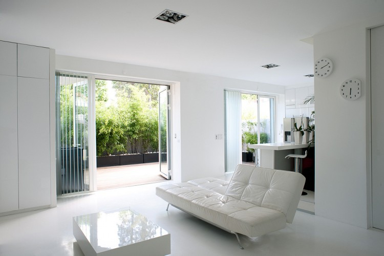 White furniture looks chic and glamorous and is perfect for small spaces
