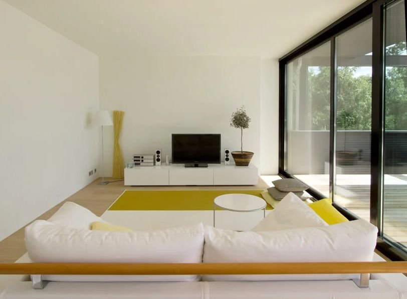 White furniture is a great option if you're going for that snow white vibe similar to what helin & co architects created here