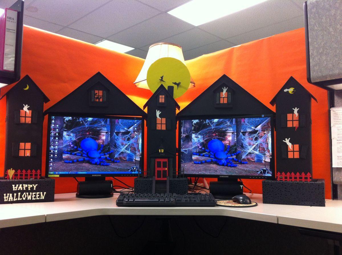 fun and spooky halloween office decor ideas - Fun And Spooky Halloween Office Decor Ideas