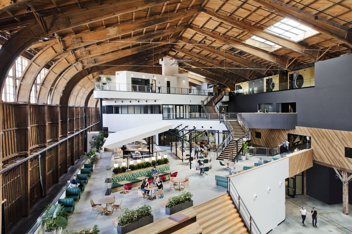 googles new l a office sits within a historic timber hangar - Google's New L.A. Office Sits Within A Historic Timber Hangar