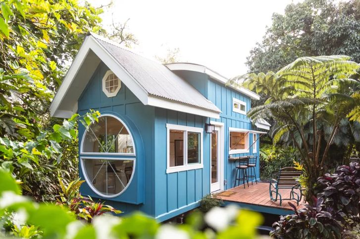 Paradise Tiny Homes in Hawaii exterior - Tiny House With A Big Round Window And Tons Of Character